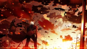Rating: Safe Score: 52 Tags: all_male archer cape clouds fate_(series) fate/stay_night male short_hair sky skyt2 sunset sword weapon white_hair User: FormX