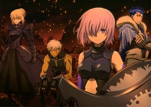 Rating: Safe Score: 31 Tags: 2girls armor blonde_hair blue_hair bodysuit braids breasts cape dress elbow_gloves fate/grand_order fate_(series) gloves gray_hair group lancer male matthew_kyrielite nagai_tatsurou pink_hair red_eyes ruins saber saber_alter scan short_hair tagme_(character) tattoo yellow_eyes User: RyuZU