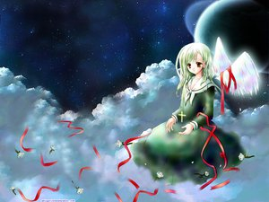 Rating: Safe Score: 1 Tags: flowers maria-sama_ga_miteru planet ribbons toudou_shimako wings User: Oyashiro-sama