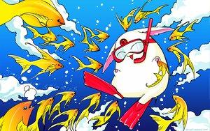 Rating: Safe Score: 9 Tags: animal clamp fish mokona tsubasa_reservoir_chronicle User: Oyashiro-sama