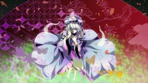 Rating: Safe Score: 35 Tags: barefoot dress hat konnyaku963 petals saigyouji_yuyuko touhou User: MadMan