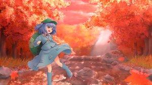 Rating: Safe Score: 60 Tags: autumn boots grass hat kawashiro_nitori leaves skirt touhou tree wamu_(chartreuse) water User: Kiho