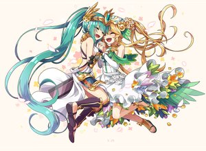 Rating: Safe Score: 36 Tags: 2girls aqua_eyes artemis_(p&d) blonde_hair dress headdress kneehighs long_hair ponytail puzzle_&_dragons tagme_(artist) tagme_(character) User: otaku_emmy