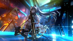 Rating: Safe Score: 26 Tags: animal_ears arknights bow_(weapon) industrial lmf13007102 long_hair schwarz_(arknights) see_through weapon User: Dreista