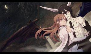 Rating: Safe Score: 75 Tags: bleach fujimaru horns inoue_orihime male moon torn_clothes ulquiorra_schiffer wings User: HawthorneKitty