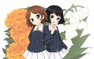 Rating: Safe Score: 27 Tags: 2girls abe_kanari flowers girls_und_panzer sakaguchi_karina short_hair utsugi_yuuki User: FormX