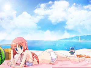 Rating: Safe Score: 24 Tags: ball beach da_capo masuda_kuniaki red_hair shirakawa_kotori summer swimsuit water User: Oyashiro-sama