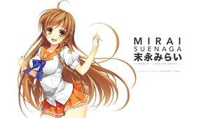 Rating: Safe Score: 54 Tags: braids brown_hair culture_japan long_hair orange_eyes seifuku suenaga_mirai white yuuki_hagure User: mattiasc02