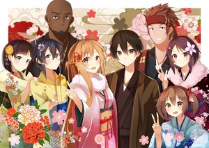 Rating: Safe Score: 57 Tags: andrew_gilbert_mills aqua_eyes ayano_keiko black_hair braids brown_eyes brown_hair .com flowers glasses group japanese_clothes kimono kirigaya_kazuto kirigaya_suguha long_hair male pink_eyes shinon_(sao) shinozaki_rika short_hair sword_art_online tsuboi_ryoutarou twintails yuuki_asuna User: RyuZU