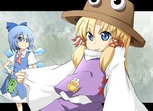 Rating: Safe Score: 10 Tags: 2girls animal cirno fairy frog moriya_suwako touhou User: Tensa