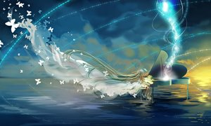 Rating: Safe Score: 49 Tags: aqua_hair butterfly dress hatsune_miku instrument long_hair miemia piano twintails vocaloid water User: Flandre93