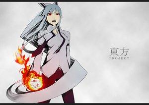 Rating: Safe Score: 83 Tags: 404_(artist) fire fujiwara_no_mokou touhou User: PAIIS