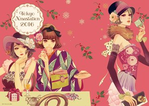 Rating: Safe Score: 20 Tags: bow christmas drink flowers hat japanese_clothes kimono matsuo_hiromi original short_hair User: FormX