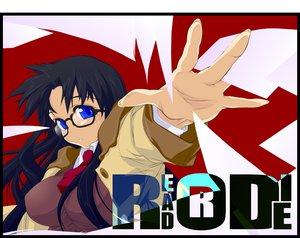 Rating: Safe Score: 2 Tags: black_hair blue_eyes glasses read_or_die yomiko_readman User: Oyashiro-sama