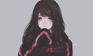 Rating: Safe Score: 88 Tags: aliasing black_hair gray kyrie_meii long_hair original pink_eyes tattoo watermark User: otaku_emmy