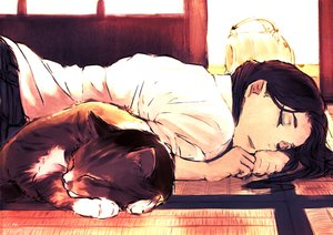 Rating: Safe Score: 73 Tags: animal cat original sleeping yukiguni_(ykgn) User: FormX