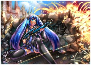 Rating: Safe Score: 87 Tags: all_points_bulletin emperpep gun hatsune_miku panties spread_legs striped_panties underwear vocaloid weapon User: xboxlive23