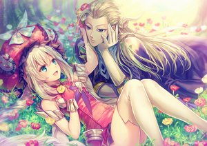 Rating: Safe Score: 48 Tags: aqua_eyes blonde_hair elbow_gloves fate/grand_order fate_(series) flowers gloves grass hagino_kouta hat long_hair male marie_antoinette_(fate/grand_order) thighhighs wolfgang_amadeus_mozart_(fate/grand_order) User: RyuZU