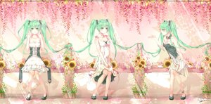 Rating: Safe Score: 26 Tags: green_eyes green_hair hatsune_miku long_hair signed twintails vocaloid User: luckyluna
