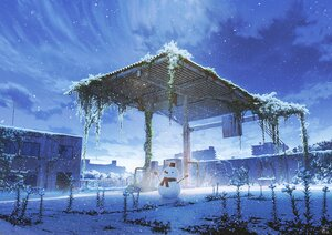 Rating: Safe Score: 70 Tags: clouds mocha_(cotton) nobody original polychromatic ruins scenic signed sky snow snowman winter User: otaku_emmy