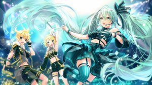 Rating: Safe Score: 27 Tags: aliasing hatsune_miku kagamine_len kagamine_rin long_hair male shinotarou_(nagunaguex) short_hair twintails vocaloid User: sadodere-chan