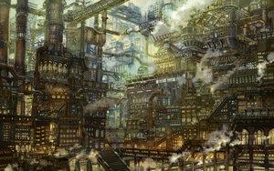 Rating: Safe Score: 58 Tags: building industrial munashichi original scenic stairs User: otaku_emmy