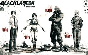 Rating: Safe Score: 117 Tags: benny black_lagoon boots cigarette dutch glasses gun kei-suwabe metal_gear monochrome parody ponytail revy rock shorts smoking tie weapon User: STORM