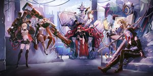 Rating: Safe Score: 84 Tags: bathtory_(final_gear) blonde_hair blue_eyes chilino_(final_gear) favia_(final_gear) final_gear glasses group headphones long_hair magic mecha mechagirl navel pointed_ears ponytail purple_eyes purple_hair red_eyes red_hair ruins see_through shorts skirt staff stairs tagme_(artist) tagme_(character) twintails weapon white_hair User: BattlequeenYume