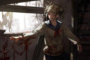 Rating: Safe Score: 23 Tags: blood boku_no_hero_academia byeolmu school_uniform toga_himiko User: Lily89402