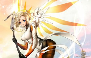 Rating: Safe Score: 69 Tags: blonde_hair blue_eyes mercy_(overwatch) nal_(nal's_pudding) overwatch short_hair weapon wings User: FormX