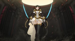Rating: Safe Score: 94 Tags: mai-hime mai-otome nina_wang shou_mai sword weapon User: FormX