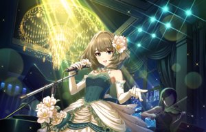 Rating: Safe Score: 34 Tags: annin_doufu bicolored_eyes brown_hair dress elbow_gloves flowers gloves idolmaster idolmaster_cinderella_girls idolmaster_cinderella_girls_starlight_stage instrument microphone necklace piano takagaki_kaede User: luckyluna