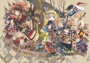 Rating: Safe Score: 86 Tags: alice_in_wonderland alice_margatroid animal bird cat doll dress drink ekita_xuan flowers garter_belt gloves group hakurei_reimu hat hourai kirisame_marisa patchouli_knowledge rabbit stockings touhou tree witch User: Flandre93
