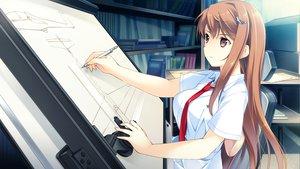 Rating: Safe Score: 66 Tags: game_cg kono_oozora_ni_tsubasa_wo_hirogete long_hair mochizuki_amane seifuku tie User: Maboroshi