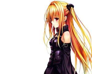 Rating: Safe Score: 201 Tags: blonde_hair blush golden_darkness long_hair red_eyes to_love_ru to_love_ru_darkness white yabuki_kentarou User: Wiresetc