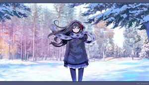 Rating: Safe Score: 71 Tags: akemi_homura black_hair forest jpeg_artifacts long_hair mahou_shoujo_madoka_magica pantyhose purple_eyes ribbons scarf snow tree User: w7382001