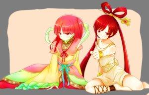 Rating: Safe Score: 89 Tags: 2girls long_hair magi_the_labyrinth_of_magic morgiana red_eyes red_hair ren_kougyoku yuiyuimoe User: opai