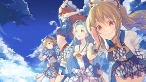 Rating: Safe Score: 106 Tags: bow clouds gloves granblue_fantasy group hat long_hair skirt sky tagme_(character) thighhighs wink yoo_(tabi_no_shiori) User: Flandre93