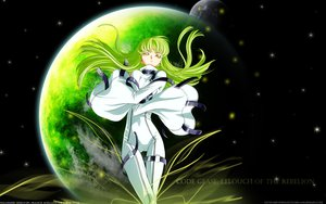 Rating: Safe Score: 25 Tags: black cc code_geass green_hair long_hair moon planet skintight space stars tagme_(artist) watermark yellow_eyes User: Oyashiro-sama