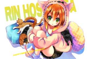 Rating: Safe Score: 38 Tags: animal animal_ears blush cat gouda_nagi green_eyes hoodie hoshizora_rin love_live!_school_idol_project orange_hair short_hair User: FormX