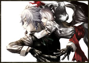Rating: Safe Score: 105 Tags: akihira_fujinohara izayoi_sakuya red_eyes remilia_scarlet touhou vampire weapon white white_hair wings User: opai