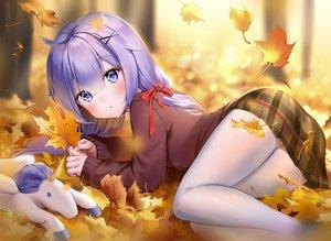 Rating: Safe Score: 67 Tags: anthropomorphism autumn azur_lane marmoset pantyhose purple_eyes purple_hair unicorn_(azur_lane) User: Fepple