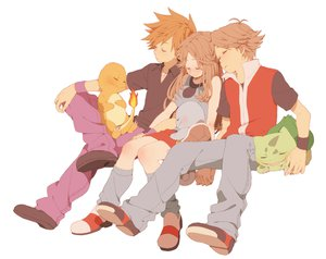 Rating: Safe Score: 69 Tags: blush brown_hair bulbasaur charmander komasawa_(fmn-ppp) leaf_(pokemon) long_hair necklace ookido_green pokemon red_(pokemon) short_hair skirt sleeping squirtle white User: STORM