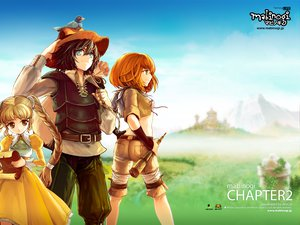 Rating: Safe Score: 22 Tags: animal bird black_hair blue_eyes braids brown_eyes brown_hair dress grass green_eyes hat logo long_hair mabinogi male orange_hair short_hair sky twintails User: Oyashiro-sama