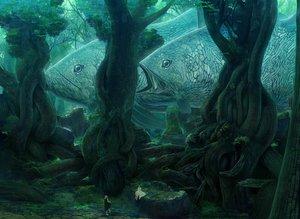 Rating: Safe Score: 52 Tags: 2girls animal fish forest kakotomirai_(harvester) original tree User: w7382001