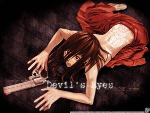 Rating: Safe Score: 37 Tags: brown_eyes brown_hair dress gun long_hair tattoo weapon User: Oyashiro-sama