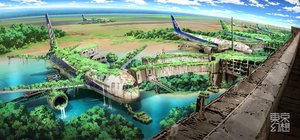 Rating: Safe Score: 319 Tags: aircraft building car landscape nobody original ruins scenic sky tokyogenso tree water User: RyuZU