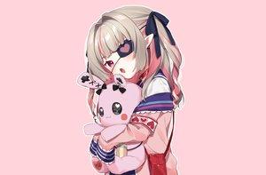 Rating: Safe Score: 58 Tags: bunny collar demon eyepatch fang gray_hair loli long_hair makaino_ririmu nijisanji pink pointed_ears red_eyes ribbons school_uniform third-party_edit twintails yama_bukiiro User: otaku_emmy