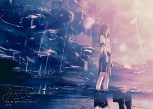 Rating: Safe Score: 47 Tags: brown_hair clouds crying fusui kneehighs original polychromatic reflection seifuku signed skirt sky User: RyuZU