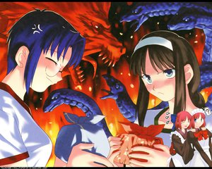Rating: Safe Score: 8 Tags: ciel hisui kohaku shingetsutan_tsukihime tohno_akiha twins User: 秀悟